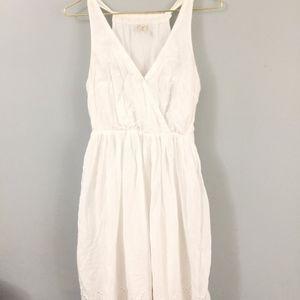 Pure White Cotton dress